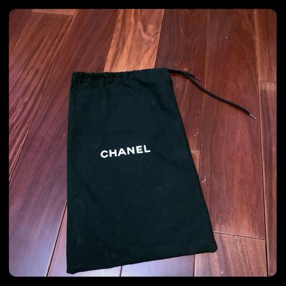 CHANEL Handbags - CHANEL black drawstring shoe dustbag